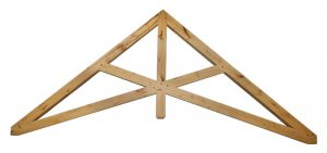 A King Post Scissor Timber Truss