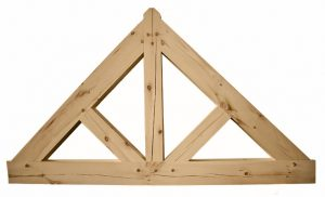 A King Post Timber Truss with Straight Struts